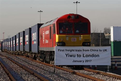 當中國義烏貨運列車抵達英國倫敦,世界經濟即將被顛覆